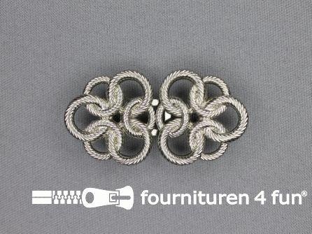 Inhaakgesp 16mm zilver