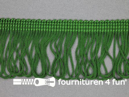 Charleston franje 45mm emerald groen