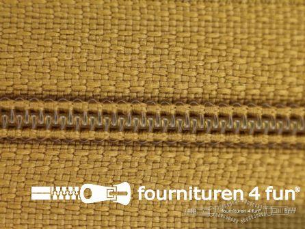 Niet deelbare nylon rits 3mm goud geel