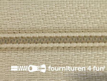 Niet deelbare nylon rits 3mm zand beige