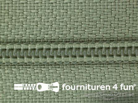 Niet deelbare nylon rits 3mm licht legergroen