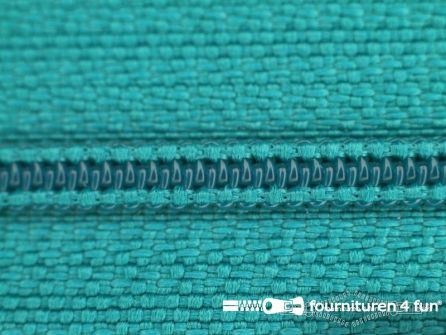 Niet deelbare nylon rits 3mm turquoise groen