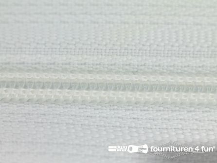 Niet deelbare nylon rits 3mm wit