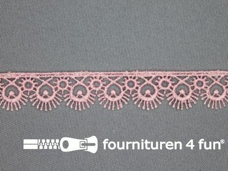 Nylon broderie 15mm baby roze