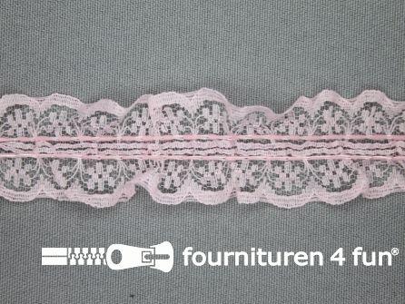 Nylon kant 28mm roze