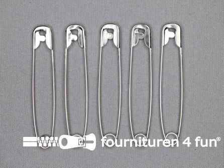 Veiligheidsspelden 75mm zilver