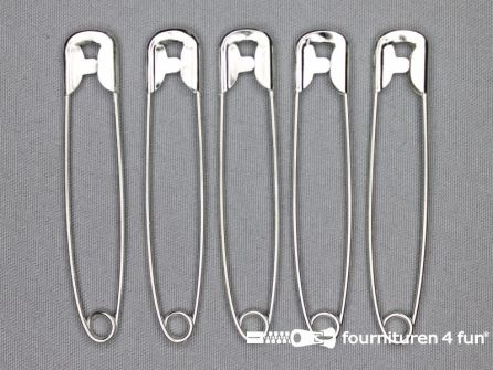Veiligheidsspelden 85mm zilver