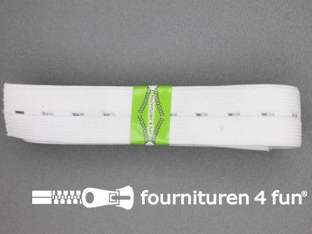 Knoopsgaten elastiek 30mm wit 2 meter
