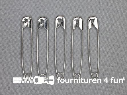Veiligheidsspelden 65mm zilver