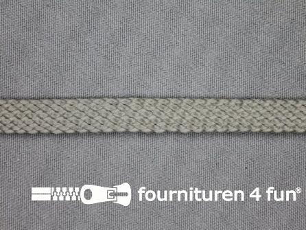 COUPON 1,95 meter Leatherlook tress band 9mm grijs