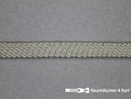 COUPON 2,85 meter Leatherlook tress band 9mm grijs