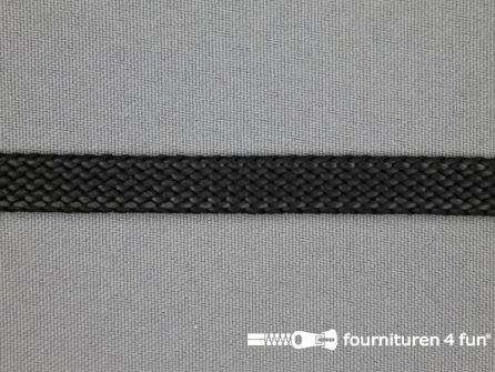 Leatherlook tress band 9mm zwart