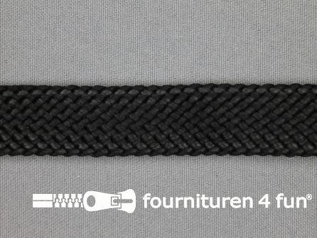 Leatherlook tress band 20mm zwart