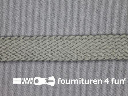 Leatherlook tress band 20mm grijs
