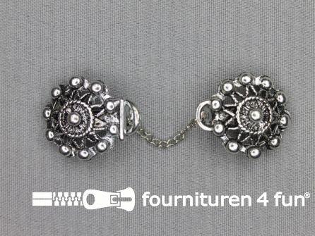 Siersluiting 24x90mm zwart zilver