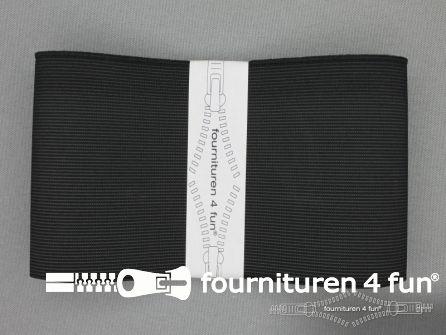 Band elastiek 80mm soepel zwart 1 meter