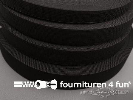 Band elastiek 80mm soepel rol zwart 10 meter