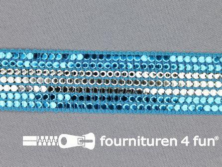 Party band 25mm aqua blauw