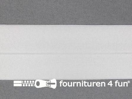 Elastische biasband 40mm wit