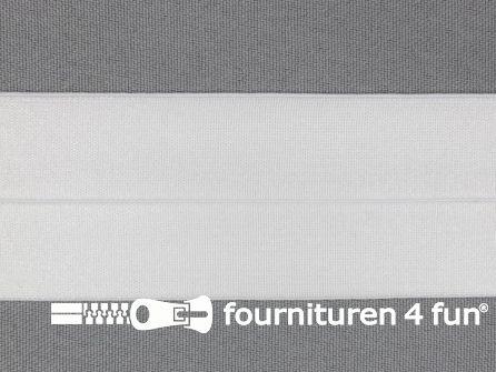 Rol 20 meter elastische biasband 40mm wit