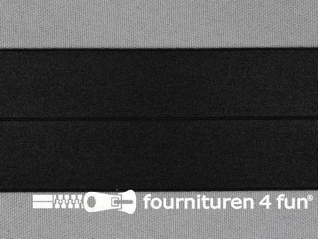 Elastische biasband 40mm zwart