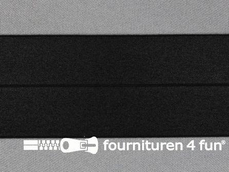Rol 20 meter elastische biasband 40mm zwart