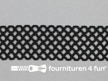 Gaas elastiek 40mm zwart