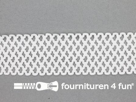 Gaas elastiek 40mm wit