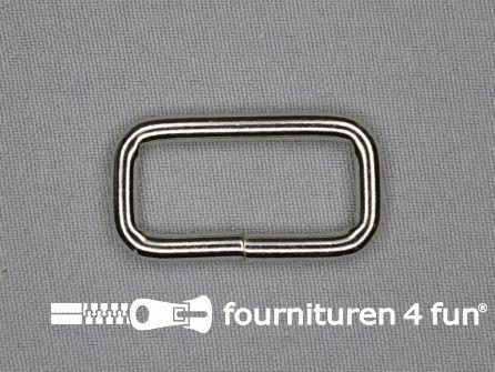 Schuifpassant 30mm zilver heavy duty