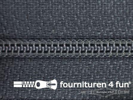 Niet deelbare nylon rits 3mm donker muisgrijs