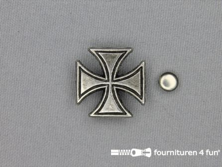 Spikes tempeliers kruis 23x23mm zilver