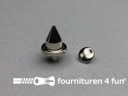 Spikes punt 12x18mm zilver