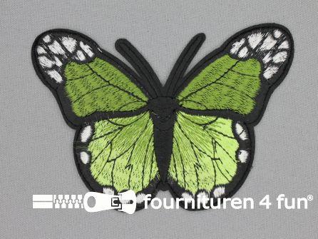 Vlinder applicatie 118x85mm groen