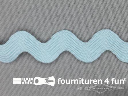 Zigzag band 15mm baby blauw