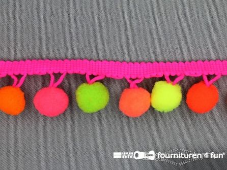 Bolletjesband 30mm neon kleuren