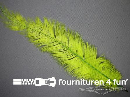 Struisvogelveer 300mm - 350mm lime groen