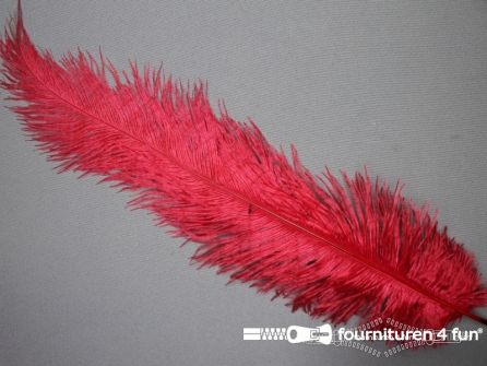 Struisvogelveer 300mm - 350mm rood
