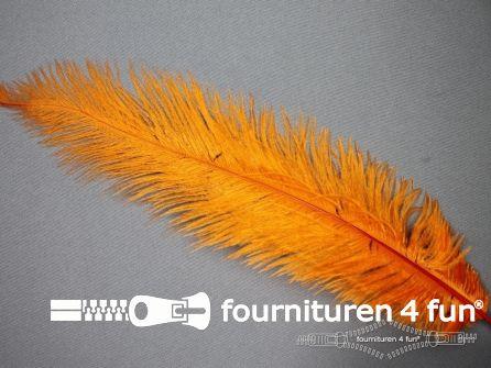Struisvogelveer 300mm - 350mm oranje