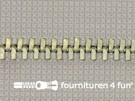 Niet deelbare broek rits metaal 4mm ecru-zand