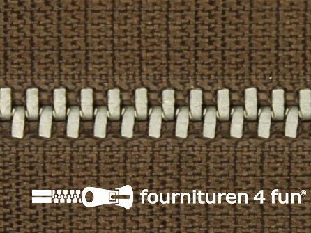 Niet deelbare broek rits metaal 4mm licht bruin