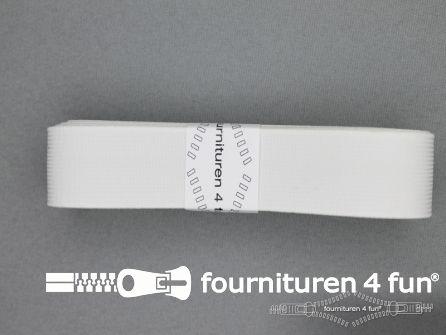 Band elastiek 25mm soepel wit 2 meter