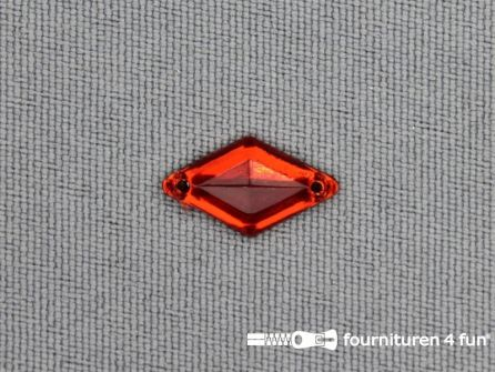 50 stuks Strass steen 9x15mm ruit rood