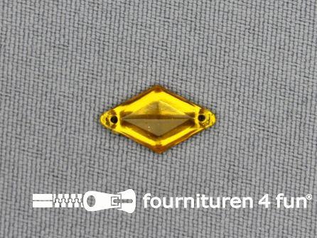 50 stuks Strass steen 9x15mm ruit geel