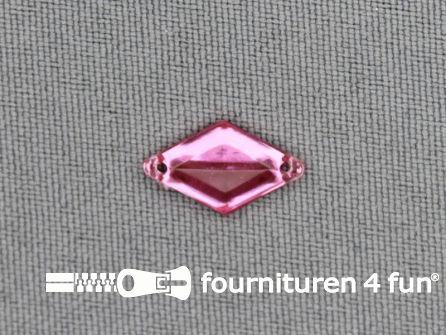 50 stuks Strass steen 9x15mm ruit licht roze