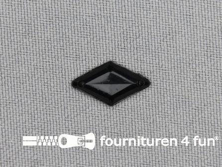 50 stuks Strass steen 9x15mm ruit zwart