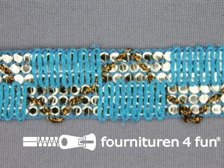 Party band 26mm aqua blauw
