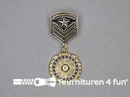 Medaille speld 30x65mm goud