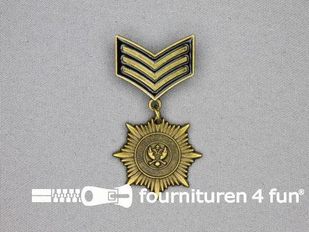Medaille speld 30x60mm brons