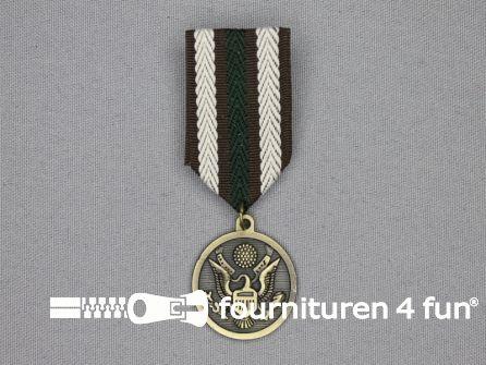 Medaille speld 27x80mm brons