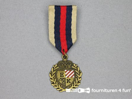 Medaille speld 30x80mm brons
